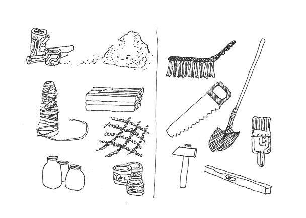 Susiraskime medžiagas ir įrankius
